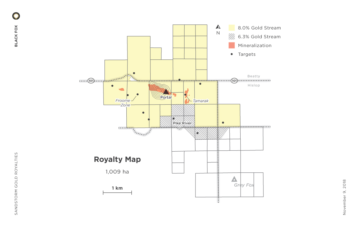 Black Fox Royalty Map