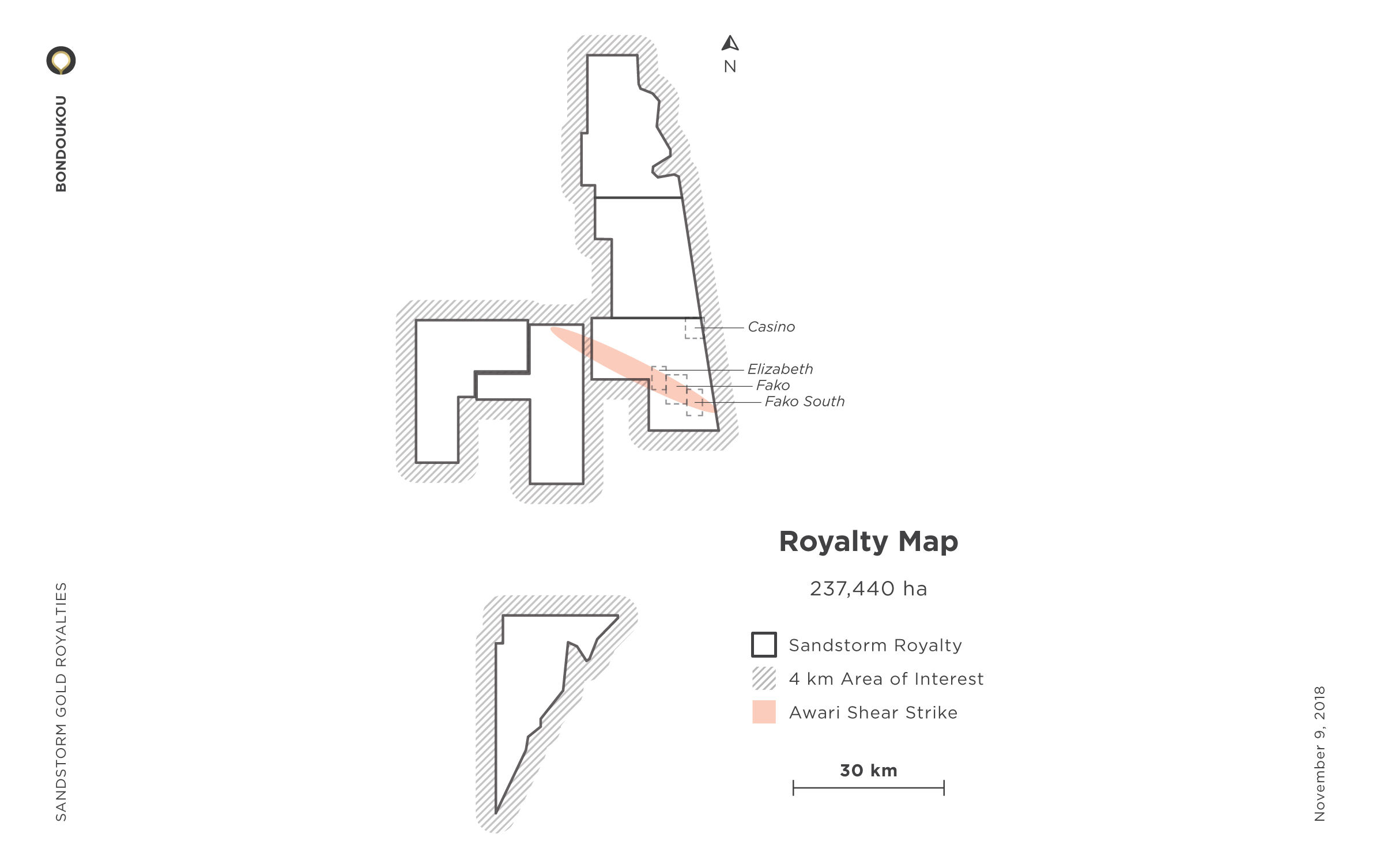 Bondoukou Royalty Map