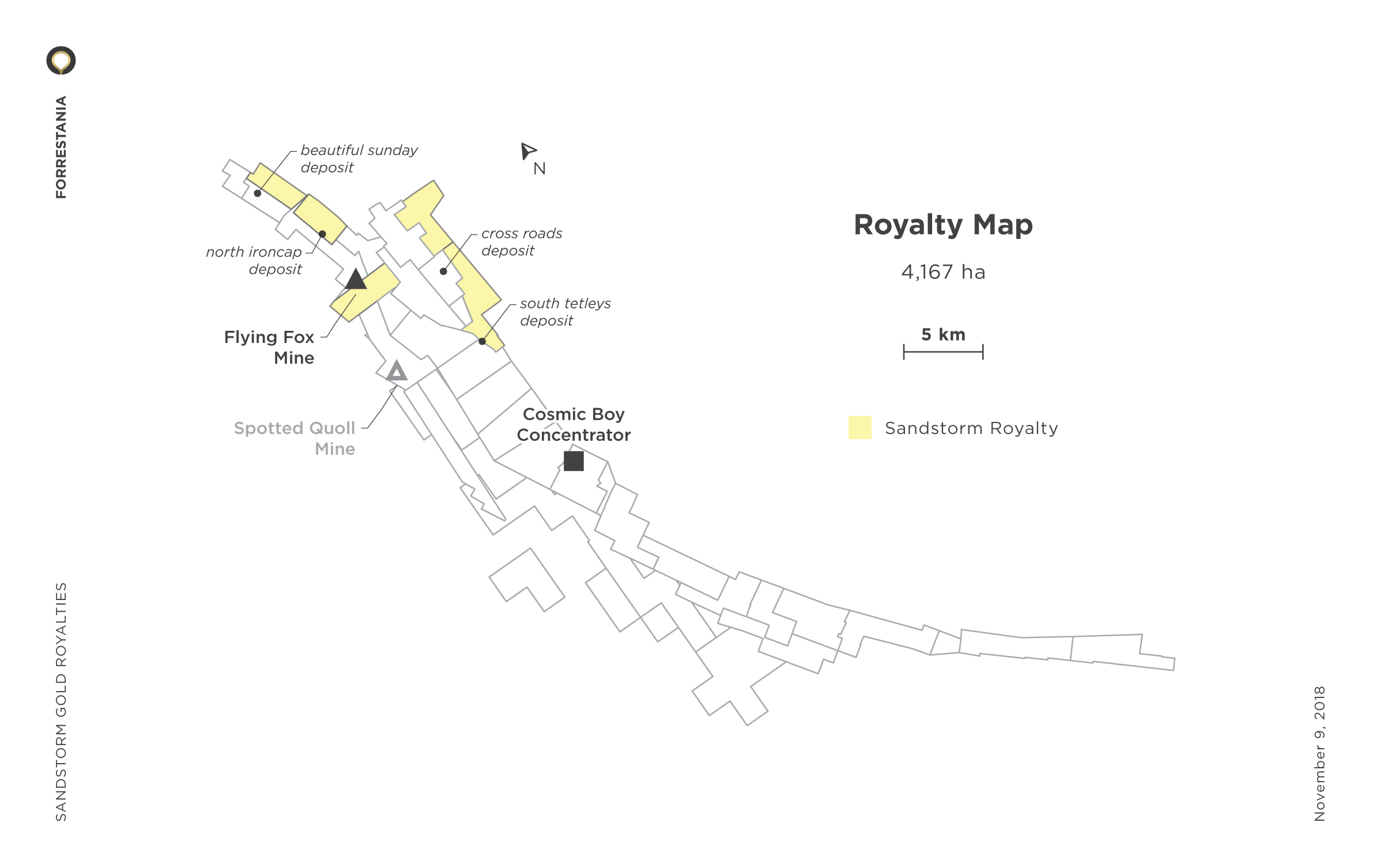Forrestania Royalty Map