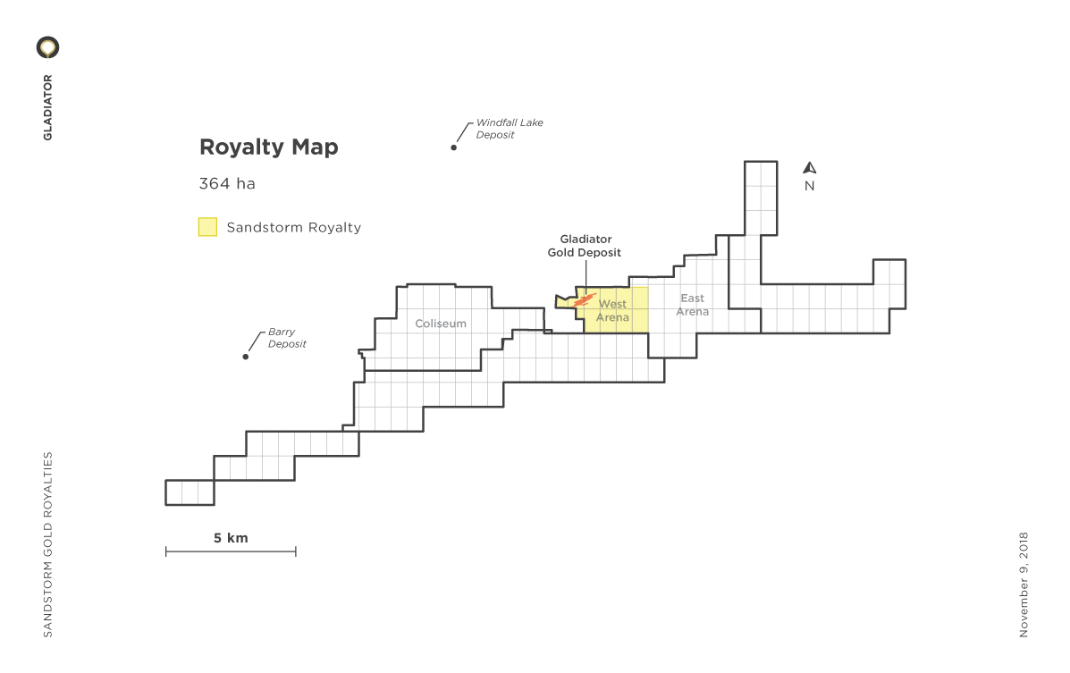 Gladiator (West Arena) Royalty Map