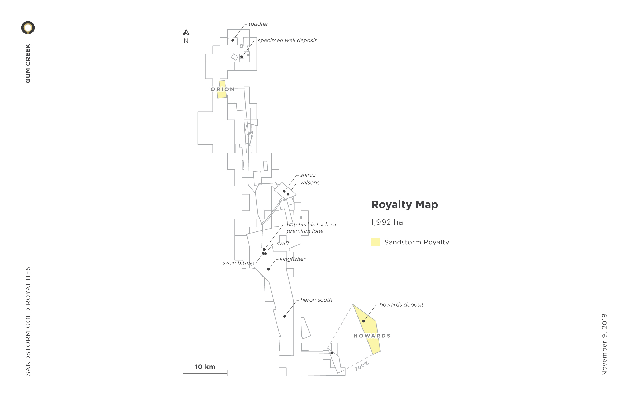 Gum Creek Royalty Map