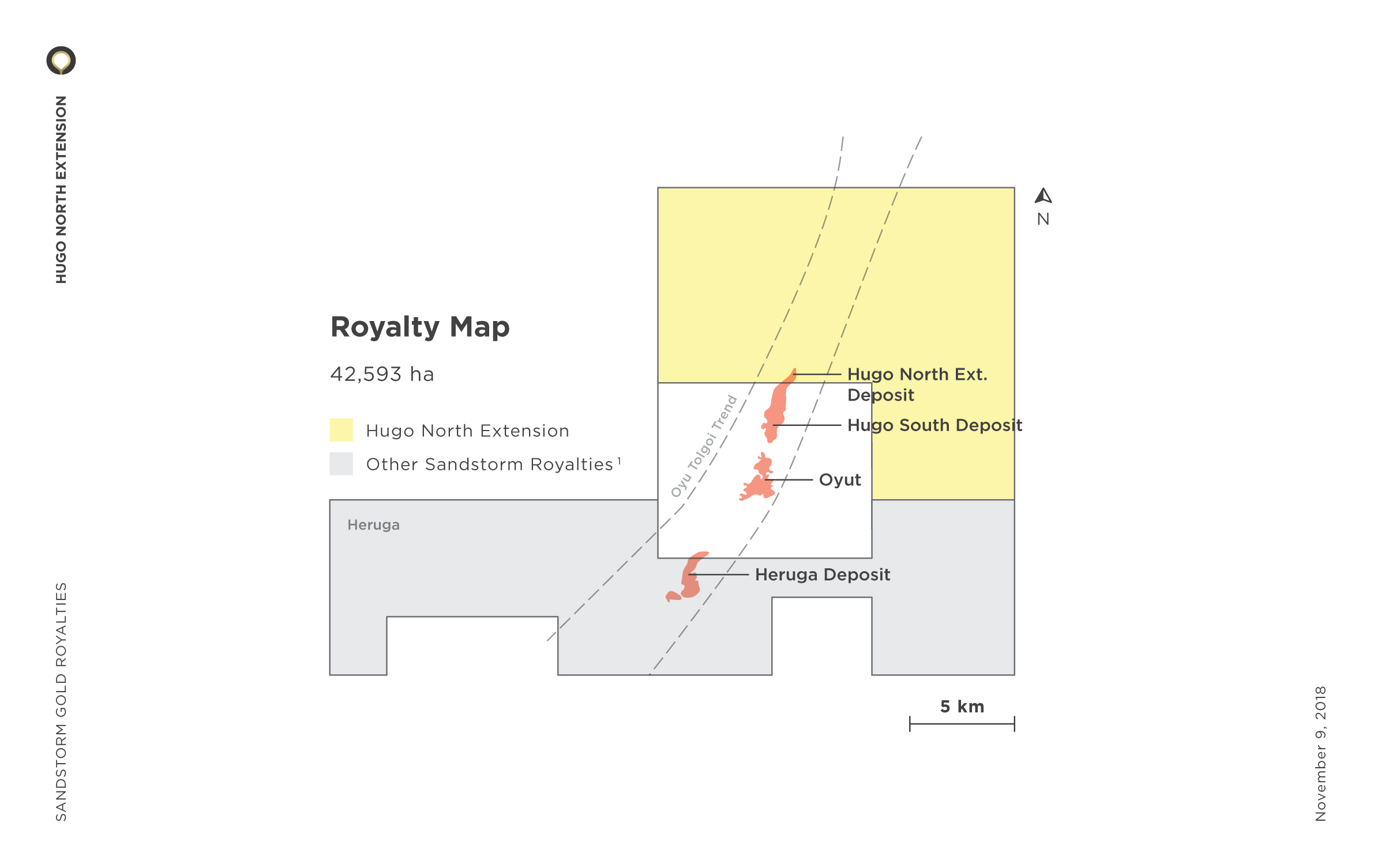 Hugo North Extension Royalty Map