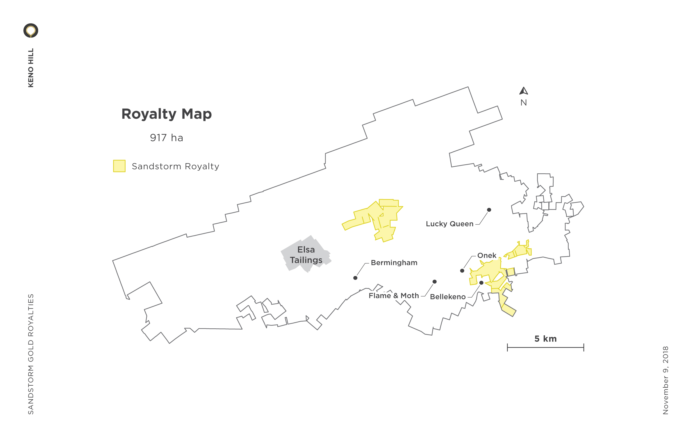 Keno Hill Royalty Map