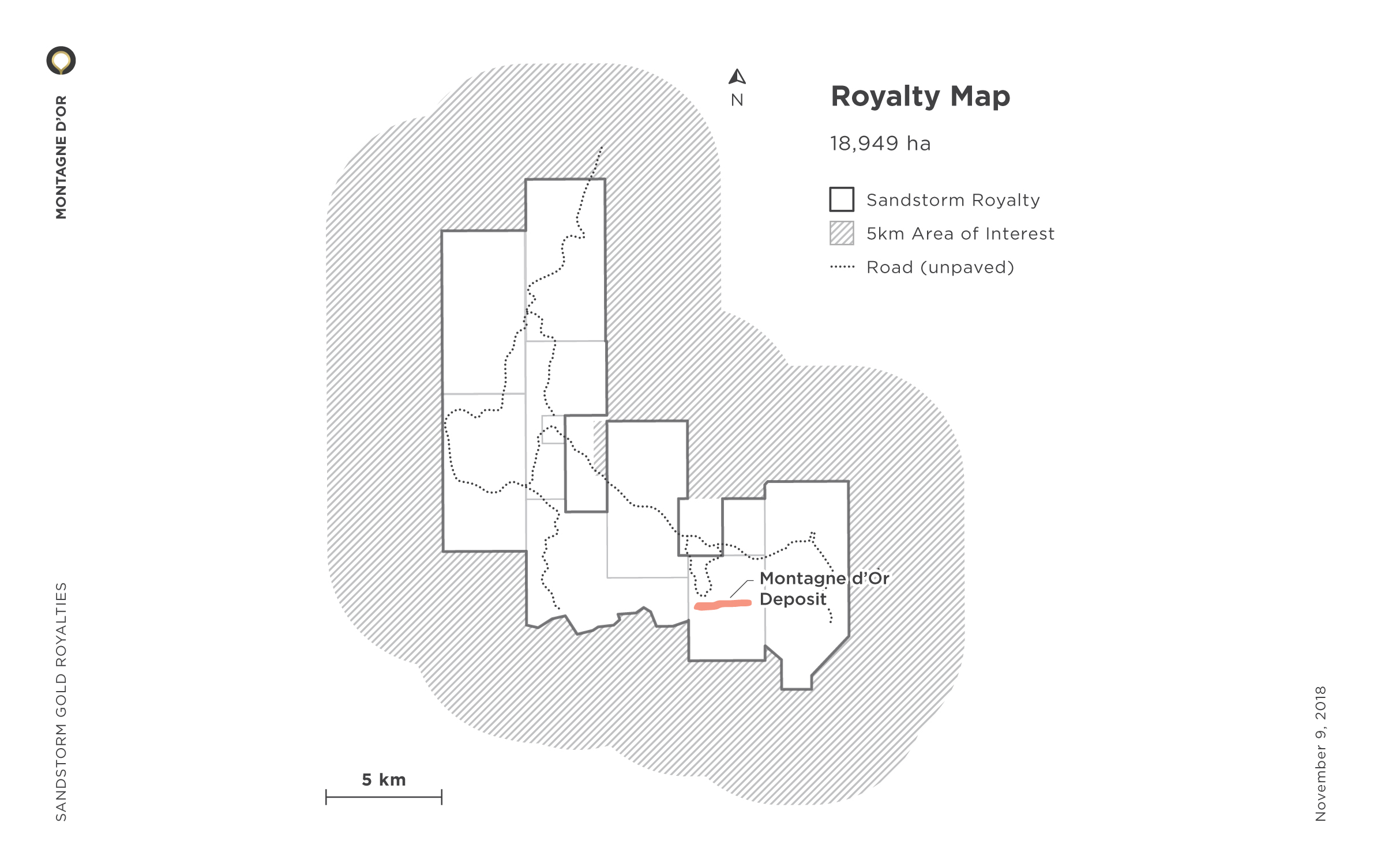 Montagne d'Or Royalty Map