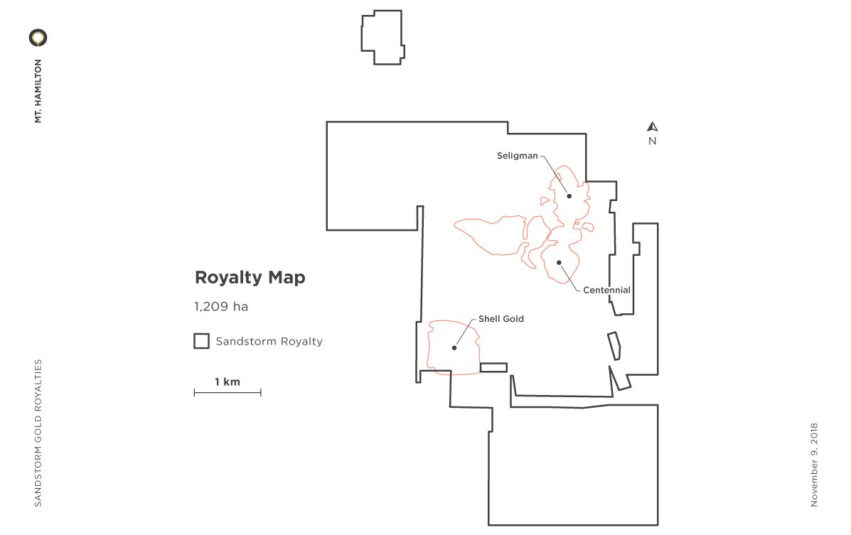 Mt. Hamilton Royalty Map