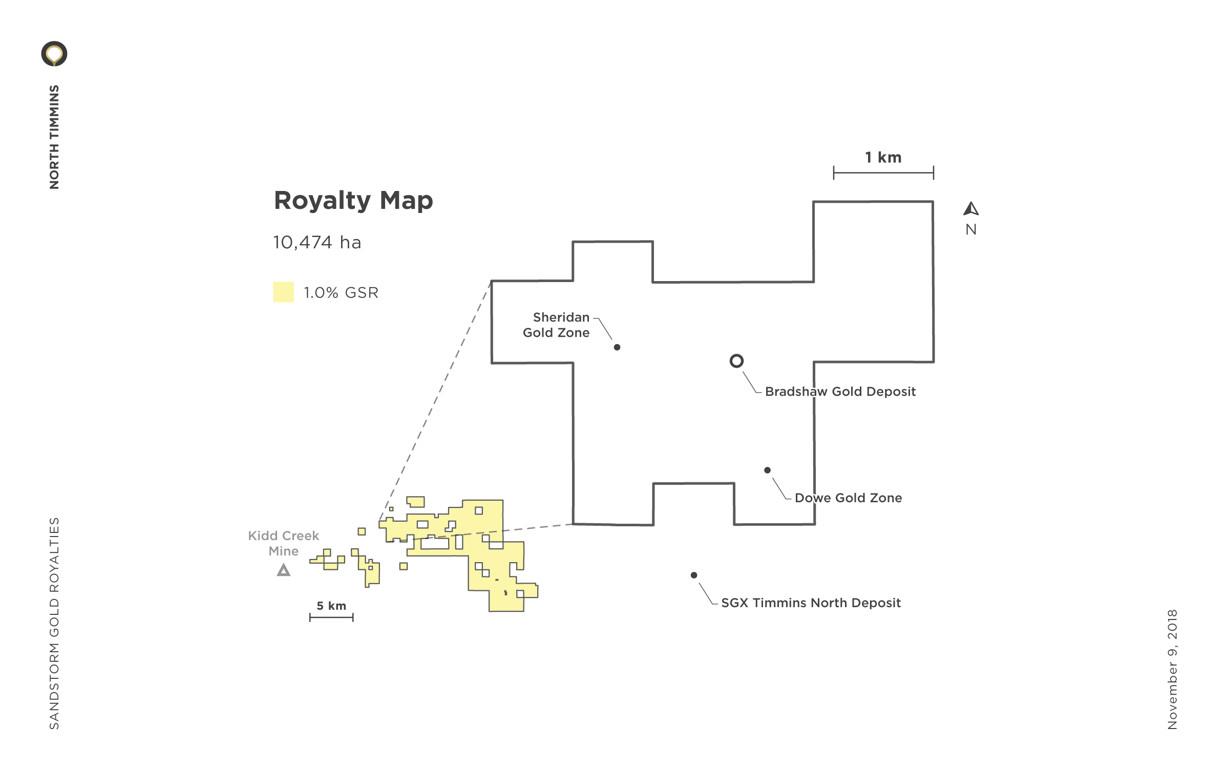 North Timmins Royalty Map