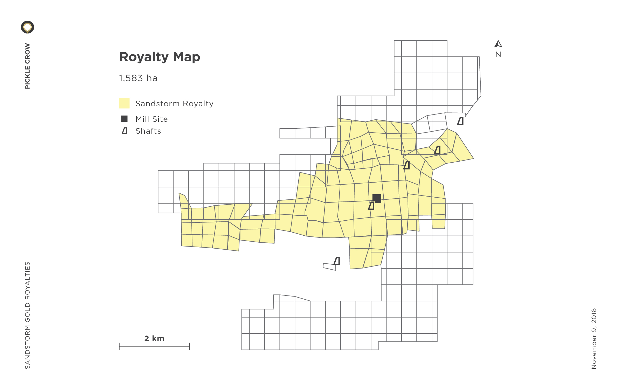 Pickle Crow Royalty Map