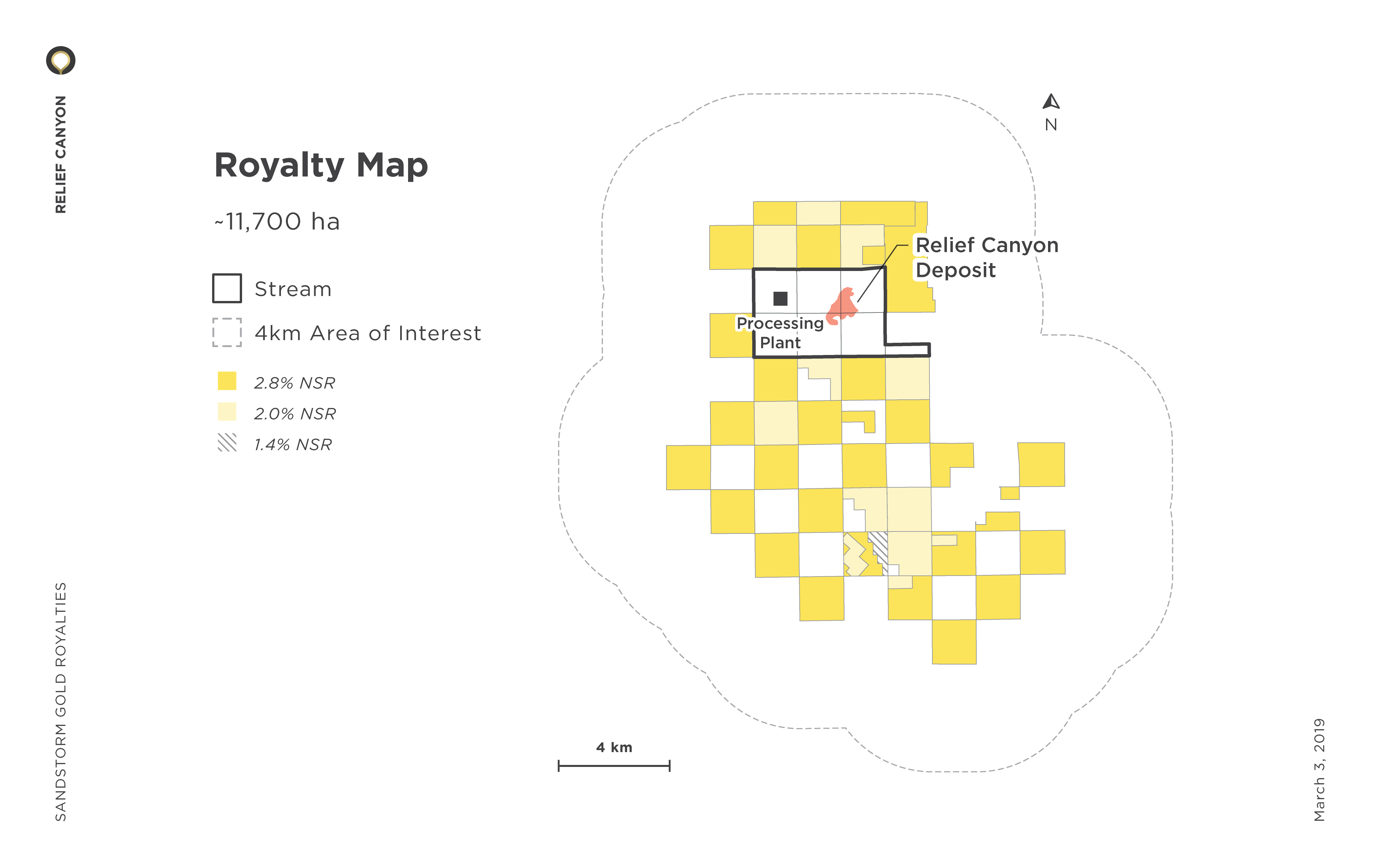 Relief Canyon Royalty Map